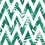 Tropical Palm leaves. seamless Stock Photo