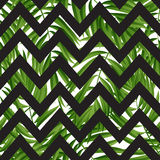 Tropical Palm leaves. Vector seamless Stock Photos
