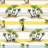 Tropical palm pattern Royalty Free Stock Photo