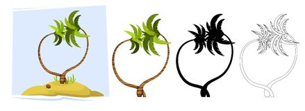 Tropical palm trees. Vector royalty free illustration