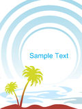 Tropical palm trees isolated on blue background Royalty Free Stock Photography
