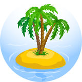 tropical palm trees in the ocean vector Stock Images