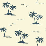 Tropical palm trees seamless background Stock Photos