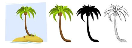 Tropical palm trees. Vector stock illustration