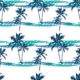 Tropical palms pattern royalty free illustration