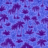 Tropical Palms Silhouettes Seamless Royalty Free Stock Photo