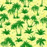 Tropical Palms Silhouettes Seamless Stock Photo