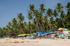 Tropical Palolem beach in Goa,India Stock Photography