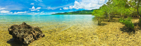 Tropical panorama Royalty Free Stock Photo