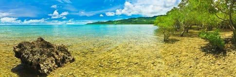 Tropical panorama royalty free stock photo