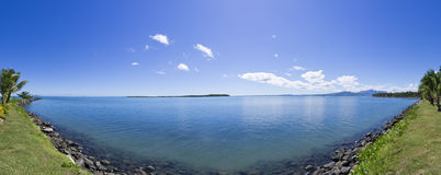 Tropical panorama in Fiji Royalty Free Stock Photo