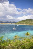 Tropical paradise. High view point of an island in the British Virgin Islands Royalty Free Stock Images