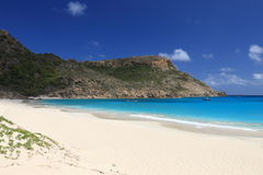 Tropical paradise. Beach on tropical paradise Saint Barts Royalty Free Stock Photo