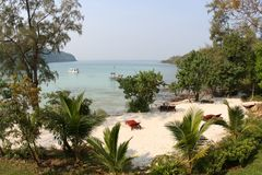 Tropical paradise. Beautiful, secluded beach on Koh Kood island in Thailand Stock Image