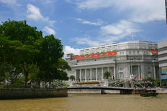 Tropical Paradise. Taken from a river cruise from Clarke Quay Singapore Royalty Free Stock Photos