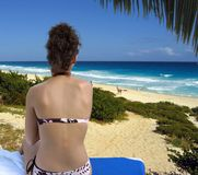 Tropical paradise. On the ocean in Cancun Royalty Free Stock Photography