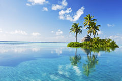 Tropical paradise. Beautiful island in the ocean Stock Photography