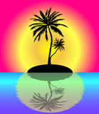 Tropical paradise. Reflected in water Stock Photography