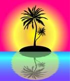 Tropical paradise royalty free illustration
