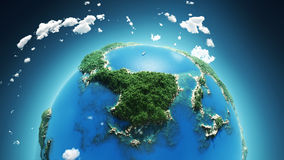 Tropical paradise, aerial view Royalty Free Stock Photo
