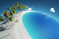 Tropical paradise, aerial view Royalty Free Stock Photography