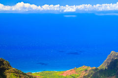 Tropical paradise, amazing blue ocean, Kauai Royalty Free Stock Images