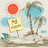 Tropical paradise background Royalty Free Stock Photos