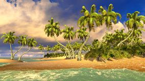 Tropical paradise beach Stock Photos