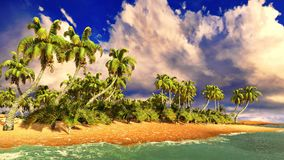 Tropical paradise beach Royalty Free Stock Photos
