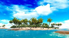 Tropical paradise beach Royalty Free Stock Image