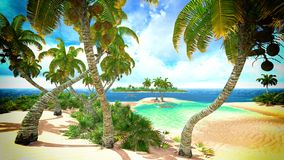 Tropical paradise beach Royalty Free Stock Images