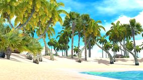 Tropical paradise beach Stock Images