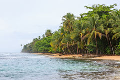 Tropical paradise beach Costa Rica Royalty Free Stock Images