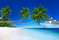 Tropical Paradise Beach Cruise Ocean Concept Royalty Free Stock Images