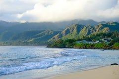 Tropical Paradise Beach Oahu Hawaii Stock Images