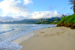 Tropical Paradise Beach Oahu Hawaii Royalty Free Stock Photography