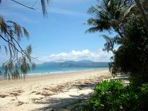 Tropical Paradise Beach. Shot looking onto beach on Paradise Island Royalty Free Stock Image