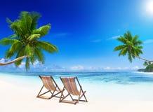 Tropical Paradise Beach Sky Concept Stock Photography