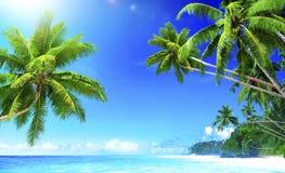 Tropical Paradise Beach Summer Travel Vacation Concept Stock Photo