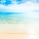 Tropical paradise beach / Sunny day sea paradise / Sea paradise Royalty Free Stock Photos