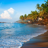 Tropical paradise beach on sunsise light Stock Photography