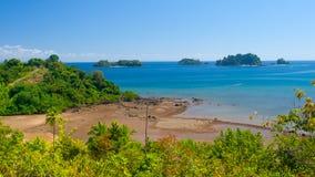 Tropical Paradise Beach. World heritage site at Isla Coiba Panama Royalty Free Stock Photography