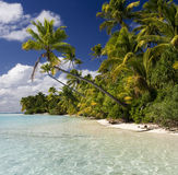 Tropical Paradise - The Cook Islands stock image