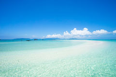Tropical paradise with coral cay and clear water, Okinawa, Japan. Coral cay and clear blue tropical water of Sekisei Lagoon, Yaeyama Islands, Okinawa, Japan Stock Images
