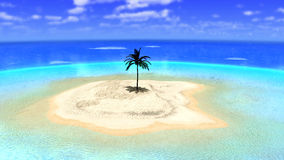 Free Tropical Paradise Desert Island Illustration Royalty Free Stock Photography - 66543167