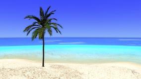 Tropical Paradise Desert Island Illustration Stock Images