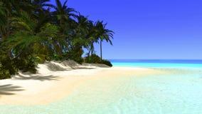 Tropical Paradise Desert Island Illustration Stock Photo