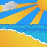 Tropical Paradise Design stock illustration