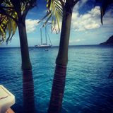 Tropical paradise. Dutch St Maarten Stock Photo