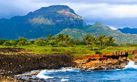 Tropical paradise, garden island, Kauai Hawaii Stock Photo